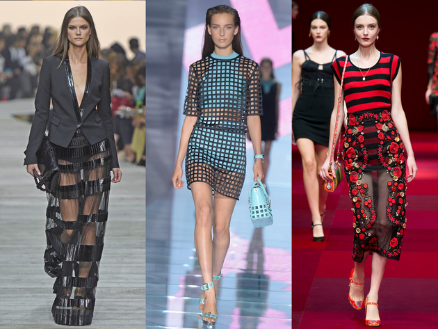 Mesh And Sheer Trends Spring 2015 Milan