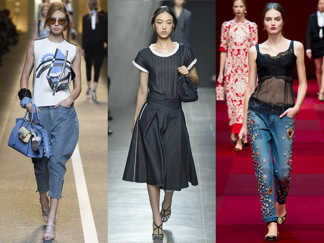 Runway Denim Spring 2015 Trends Milan