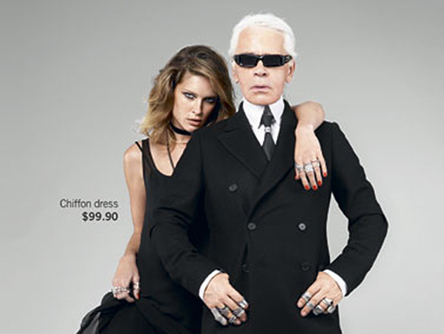 Karl Lagerfeld Bringins High Fashion To Masses