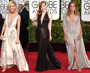 Kicking off the award season in style, the red carpet at the 2015 Golden Globes showcased a lot of gorgeous trends. See some of the best dressed celebrities.