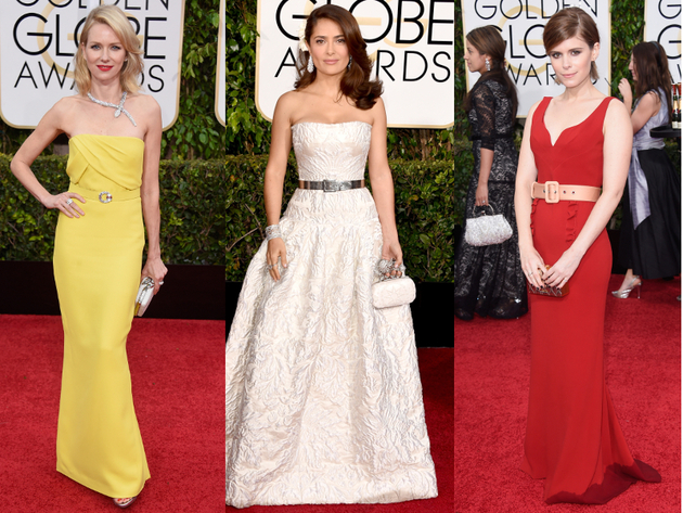 Golden Globes 2015 Belted Dresses