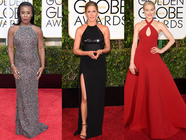 Golden Globes 2015 Belted Halter Dresses