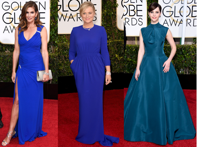 Golden Globes 2015 Blue Dresses
