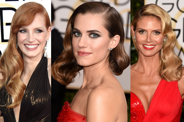 Golden Globes 2015 Glam Wavy Hairstyles