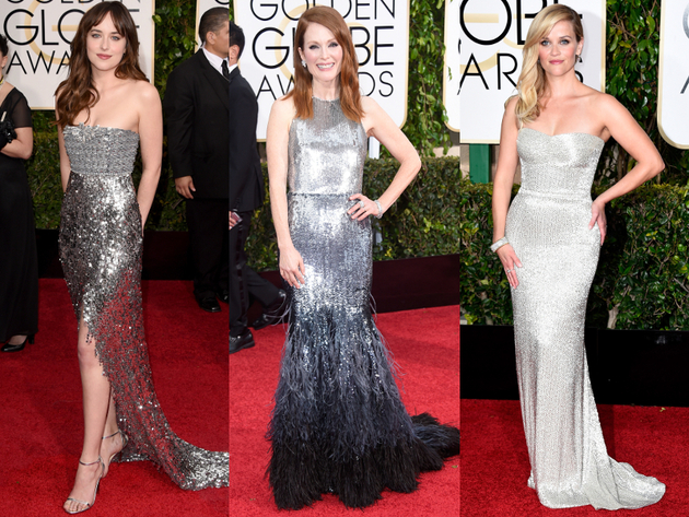Golden Globes 2015 Metallic Gowns