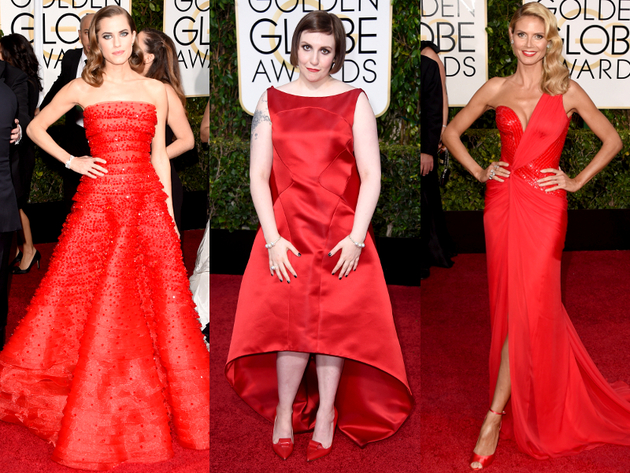 Golden Globes 2015 Red Dresses