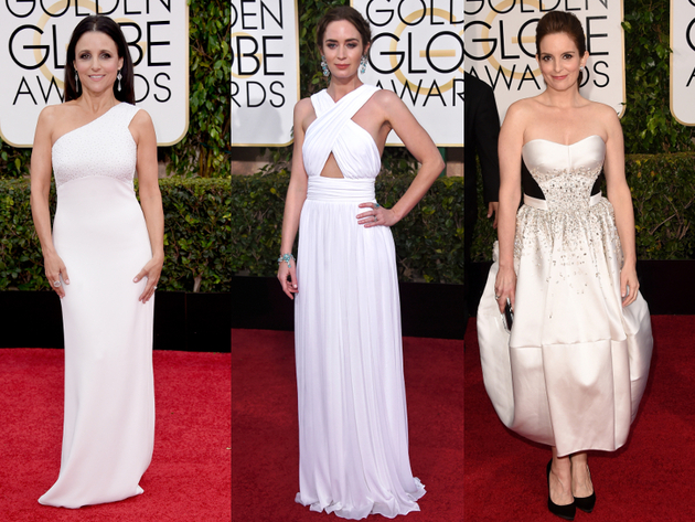 Golden Globes 2015 White Dresses