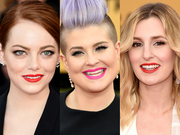 Bold Lipstick 2015 Sag Awards Red Carpet