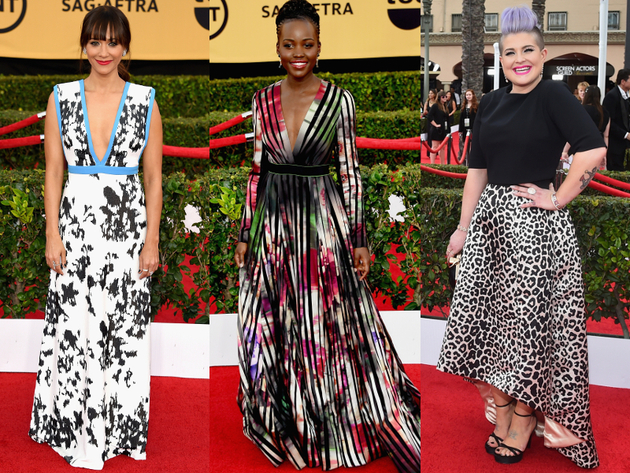 Bold Prints 2015 Sag Awards Red Carpet