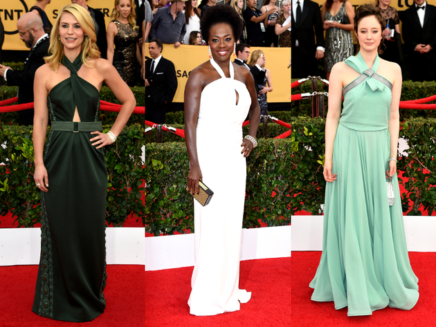 Halter Dresses 2015 Sag Awards Red Carpet