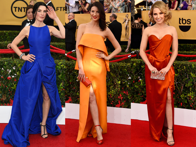 High Slit Dresses 2015 Sag Awards Red Carpet