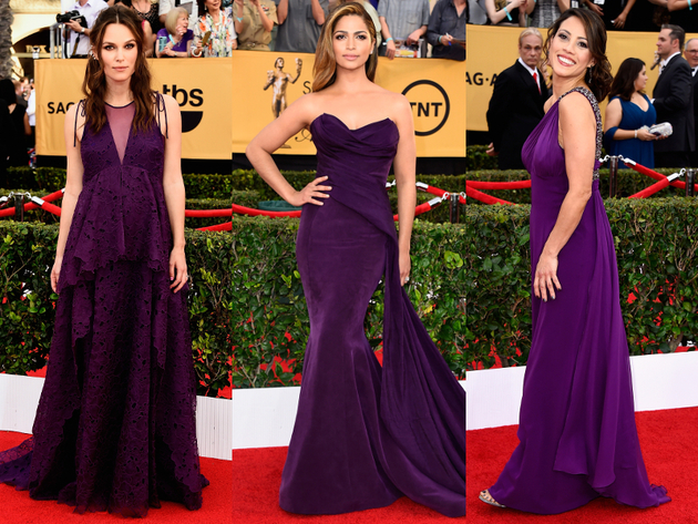 Purple Dresses 2015 Sag Awards Red Carpet