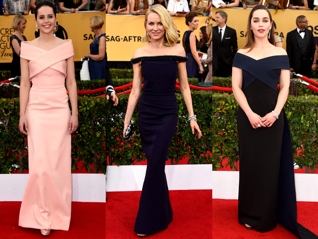 Strapless Dresses 2015 Sag Awards Red Carpet