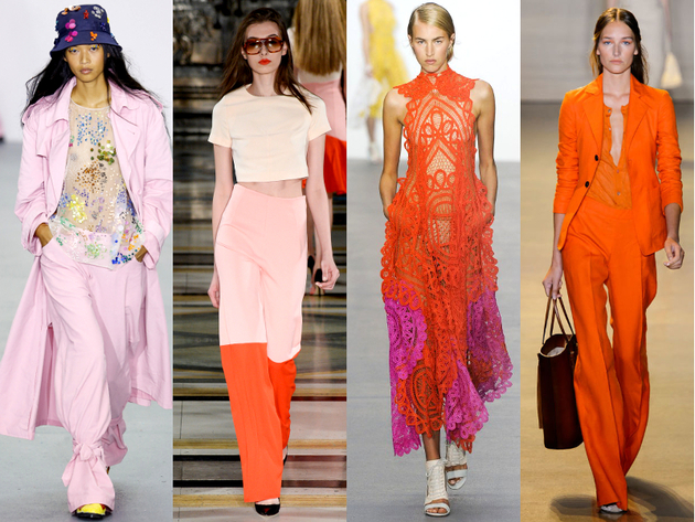 Pink And Orange Trends Spring Summer 2016