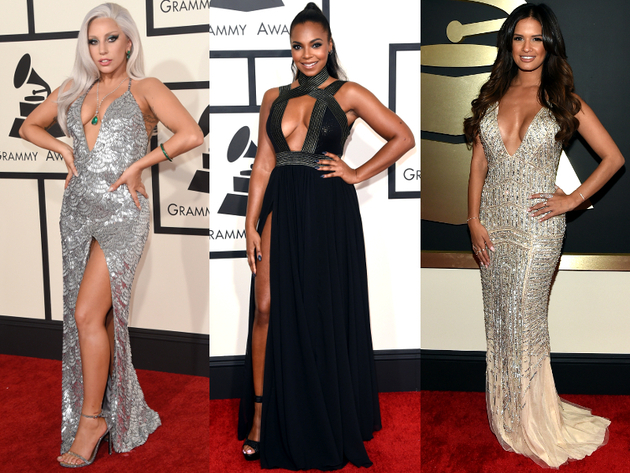 Plunging Dresses Grammys 2015