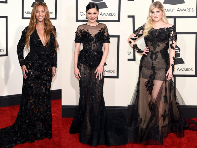 Sheer Dresses Grammys 2015