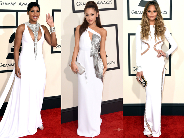 White Dresses Grammys 2015