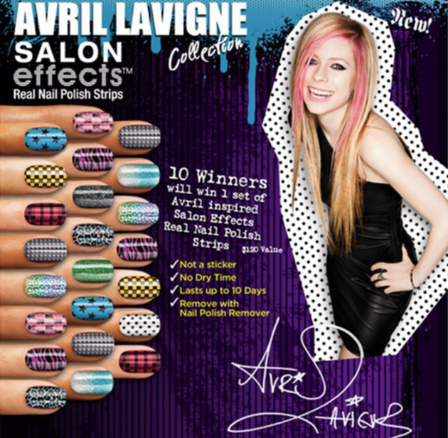 Avril Lavigne Nail Polish Wraps