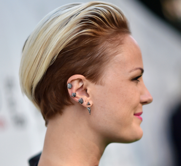Malin Akerman Undercut Hairstyle Backview