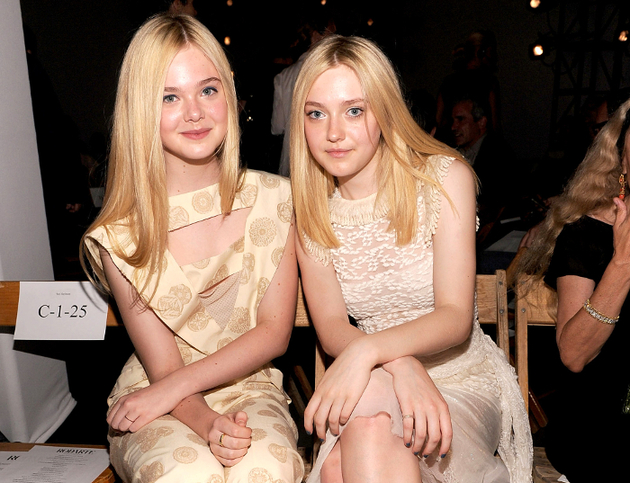 Elle And Dakota Fanning Stylish Sisters