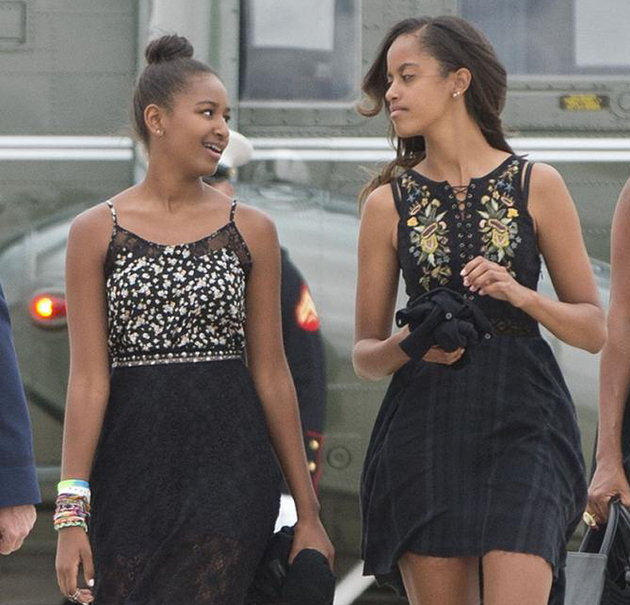 Malia And Sasha Obama Stylish Sisters