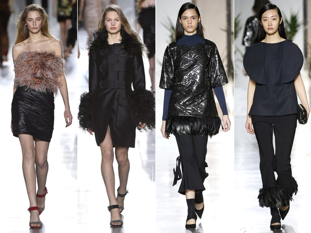 Feathers Trend London Fashion Week 2015