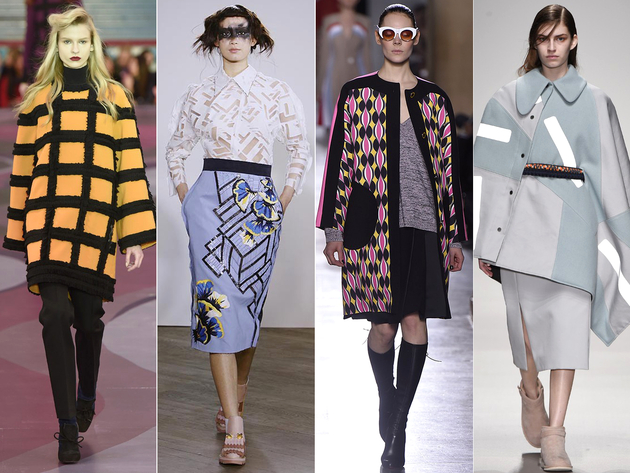 Geometric Prints Trends London Fashion Week 2015