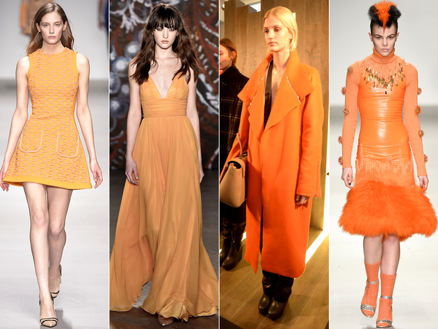 Orange Color Trend London Fashion Week 2015