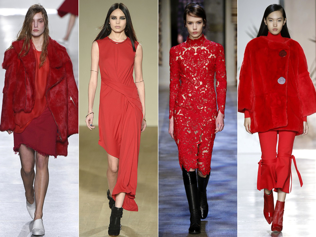 Red Color Trend London Fashion Week 2015
