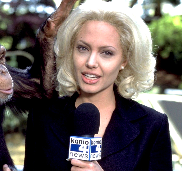 Angelina Jolie With Platinum Blonde Hair