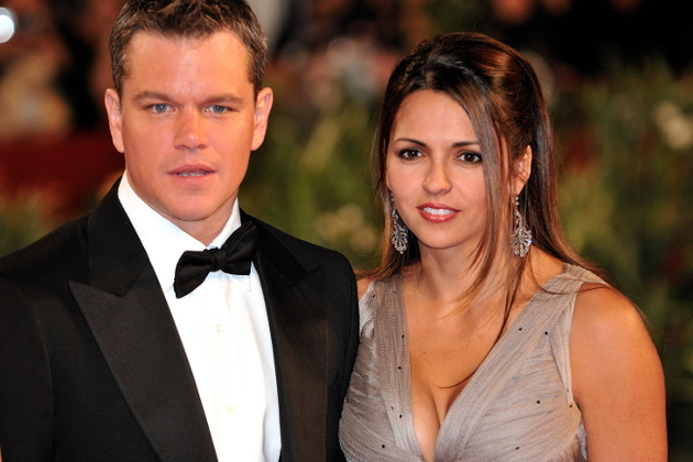 Luciana Bozan Barroso And Matt Damon
