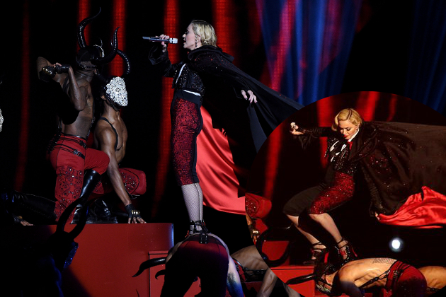 Madonna's Fall and More Extreme Wardrobe Malfunctions