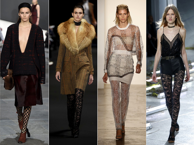 Lace Pants And Tights Fall 2015 New York Fashion Week