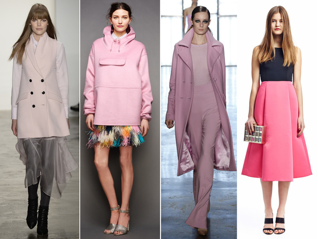Pink Color Trends Fall 2015 New York Fashion Week