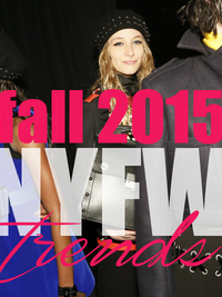 Major Fall 2015 Trends from New York Fashion Week