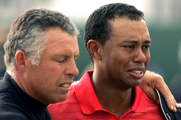 Tiger Woods Crying
