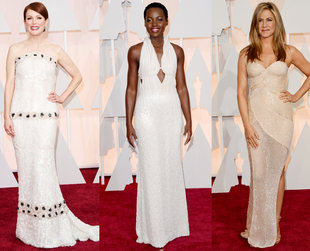 Red gowns and silver dressed ruled the red carpet at the 2015 Academy Awards, while white also made a splash. See the major trends on display at the Oscars.