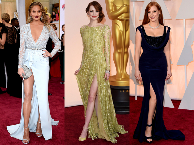 Oscars 2015 High Slit Gowns Gowns