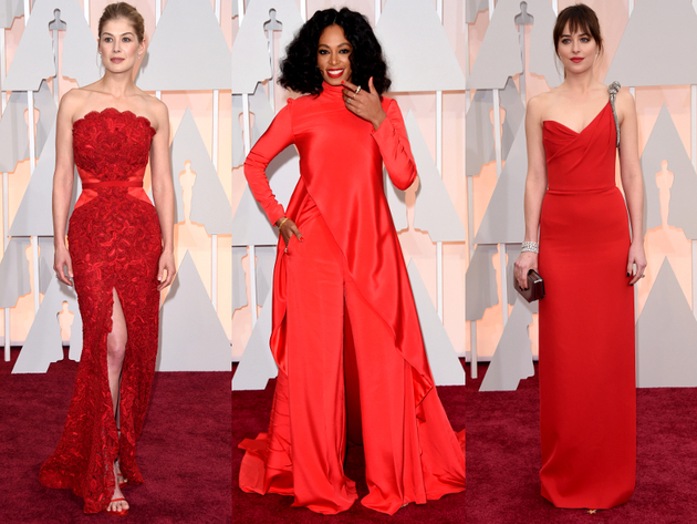 Oscars 2015 Red Dresses