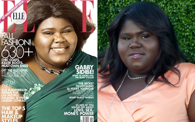 Gabourey Sidibe Elle Cover Skin Lightening