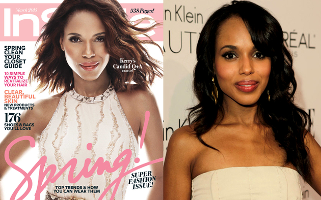 Kerry Washington In Style Skin Lightening
