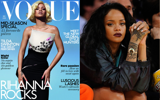 Rihanna Vogue Cover Skin Lightening