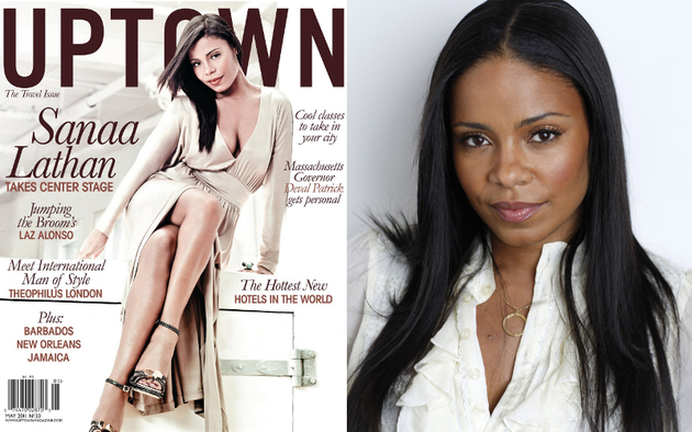 Sanaa Lathan Uptown Cover Skin Lightening