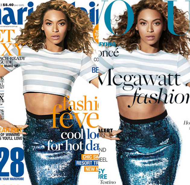 Beyonce Marie Claire Vogue Covers Skin Lightening