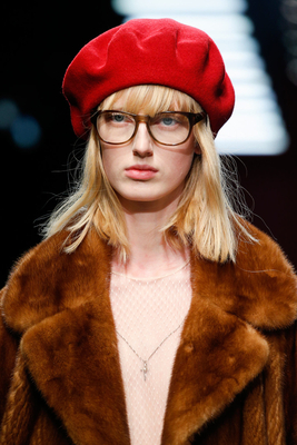 Beret Gucci Fall 2015 Trends