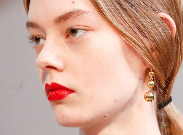 Bright Red Lips Fall 2015