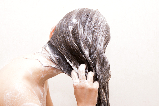 Washing Frizzy Hair