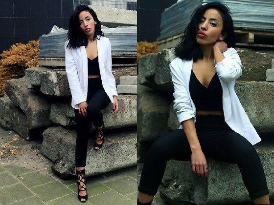 Crop Top With Blazer