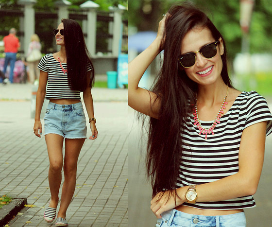 Crop Top With Cutoffs