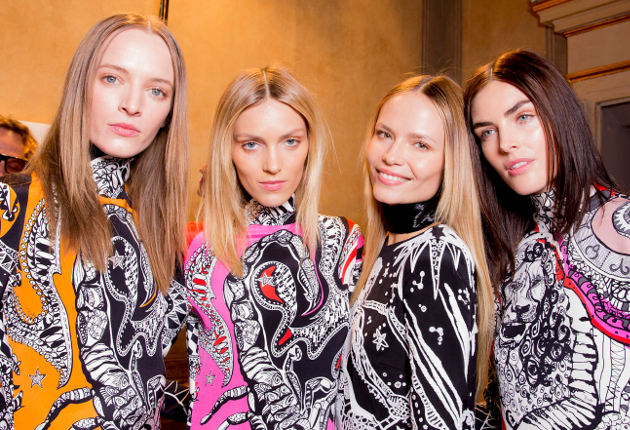 Middle Parts Fall 2015 Emilio Pucci